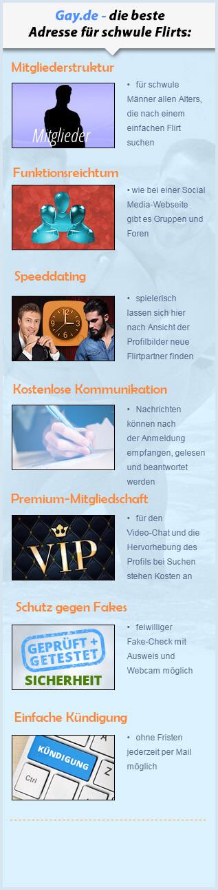 Informationen und Fakten zum Gay-Dating Anbieter Gay.de