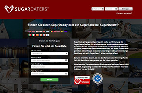 Homepage von SugarDaters