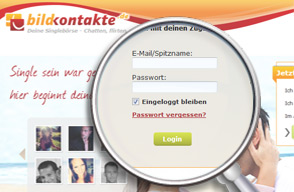Screenshot Login Bildkontakte.de