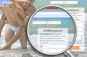Screenshot Login Gay.de