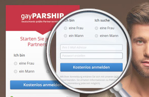 Screenshot Login gayPARSHIP
