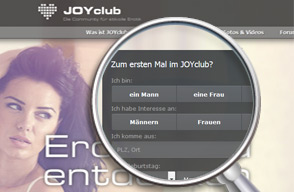 Screenshot Login JOYclub
