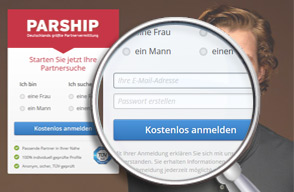 Screenshot Login PARSHIP